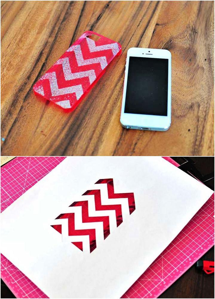 Chevron Glitter iPhone Case Design