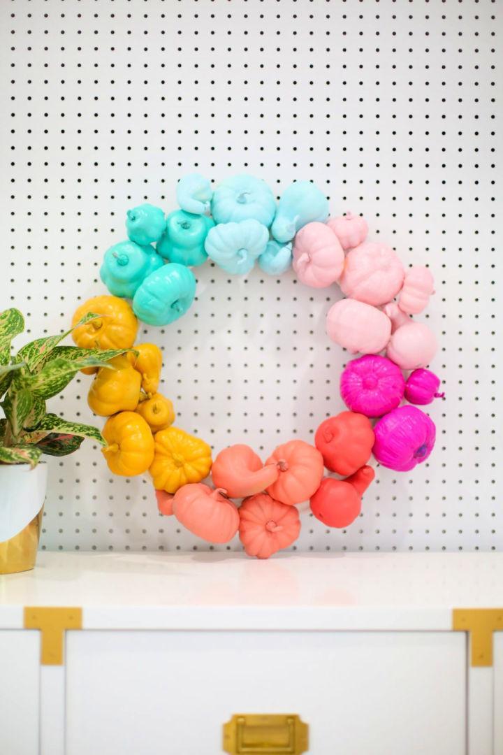 Colorful DIY Halloween Wreath