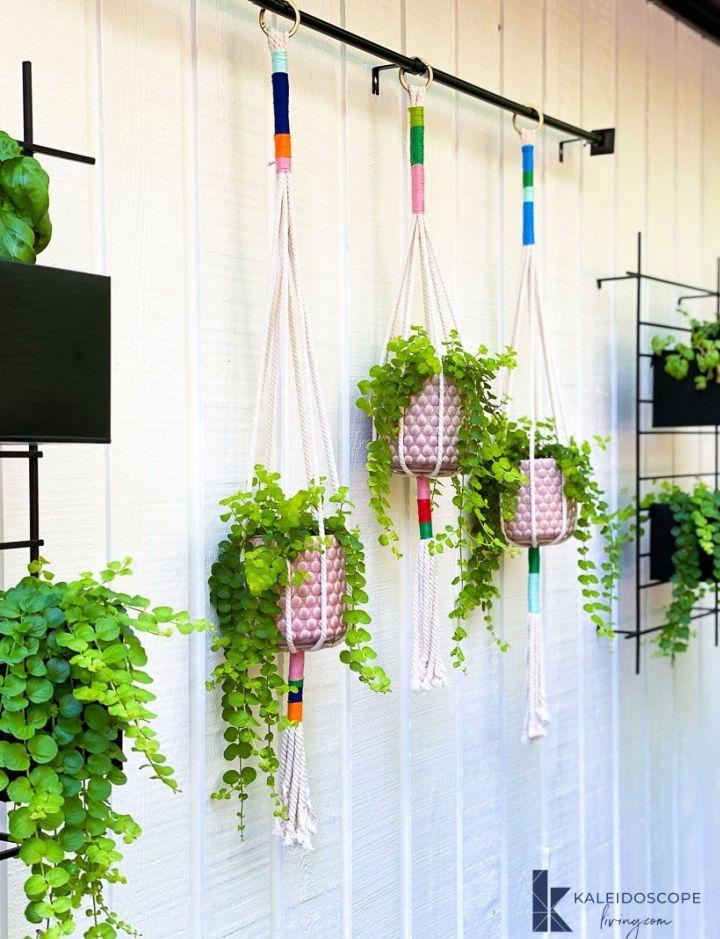 Colorful DIY Macrame Plant Hanger