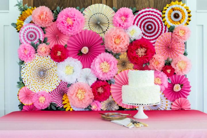 Craft a Party Perfect Blooming Backdrop