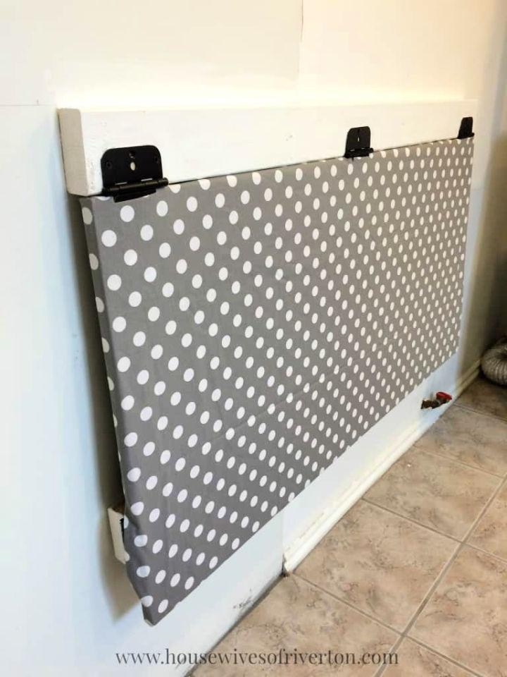 DIY Drop Down Laundry Table