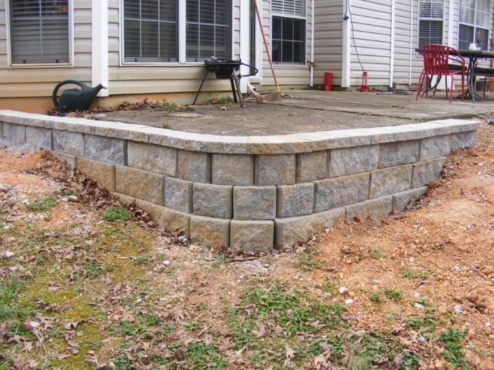 DIY Simple Retaining Wall