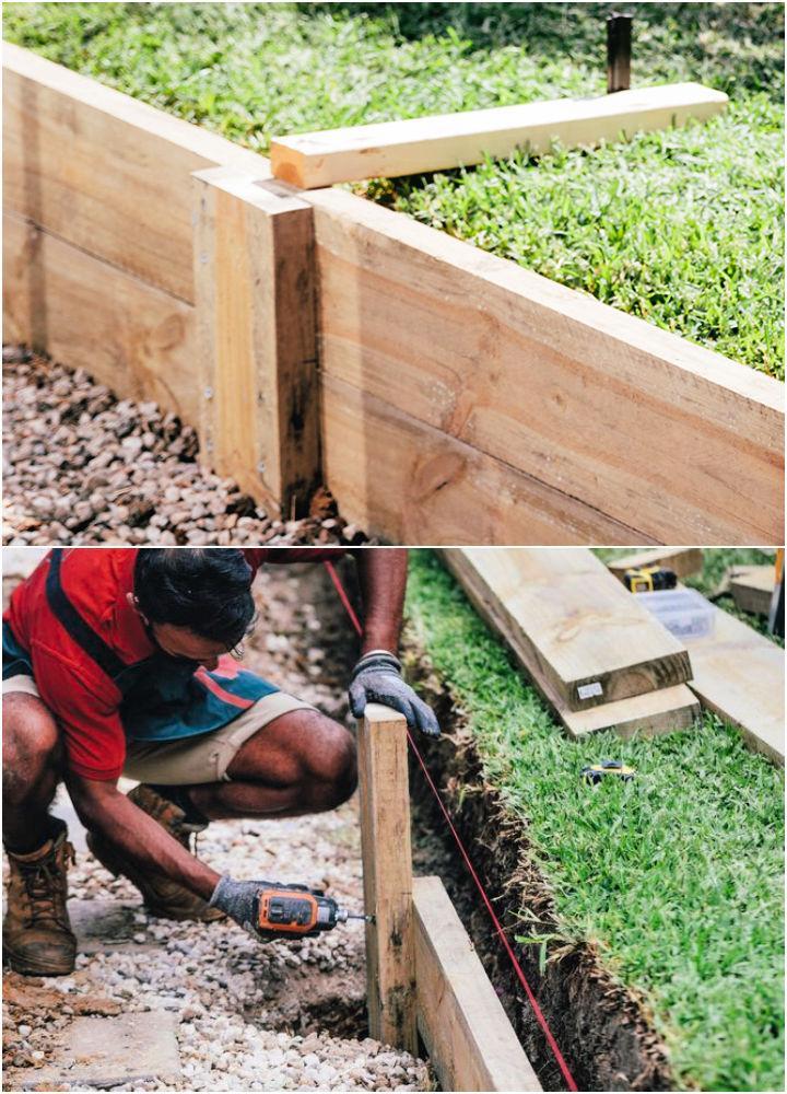 DIY Timber Retaining Wall