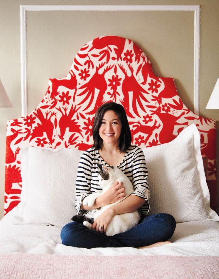 DIY Upholstered Otomi Headboard