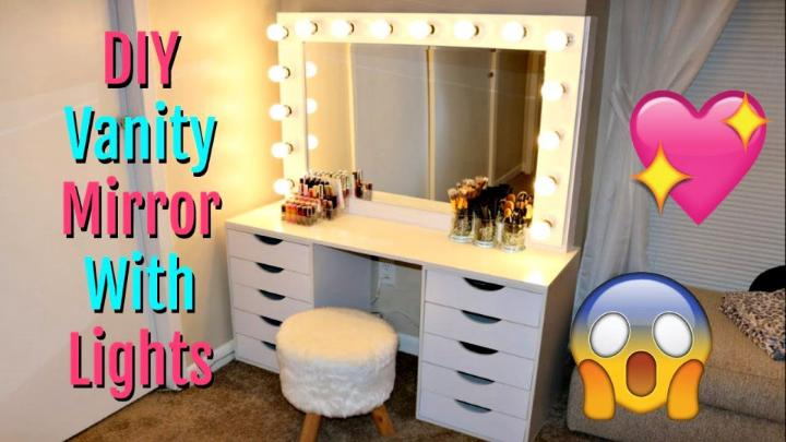 DIY Vanity Mirror With Lights Under 150