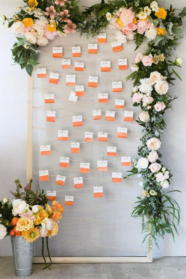 DIY Wall Seating Chart Frame