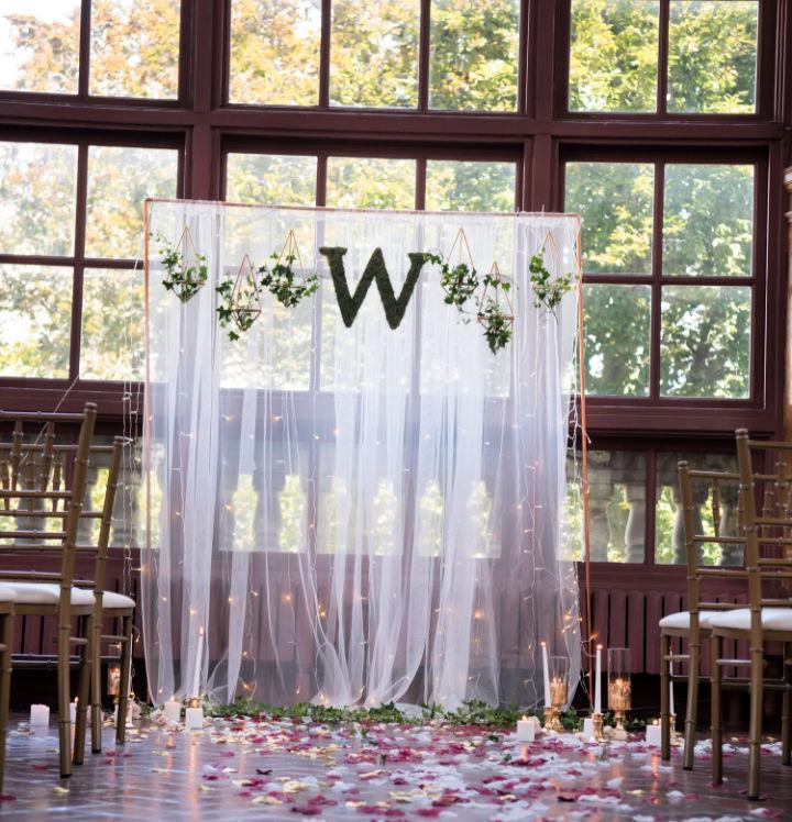 DIY Wedding Ceremony Backdrop