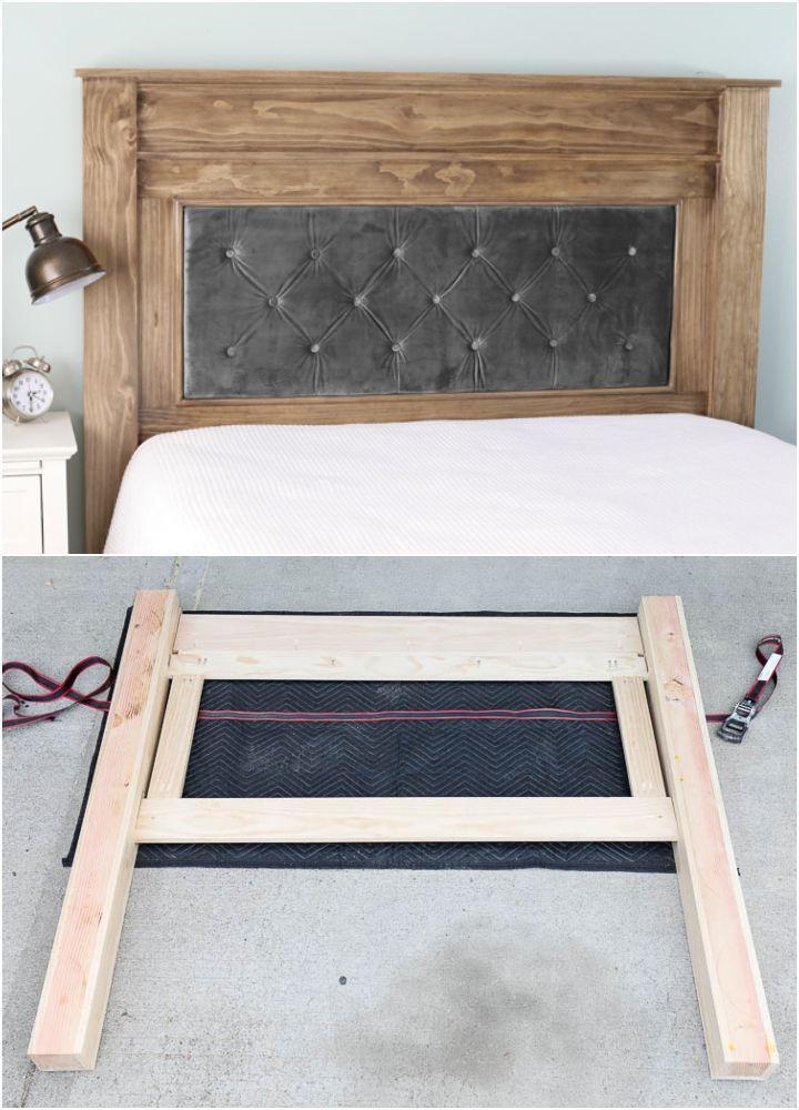 DIY Wood and Upholstered Headboard