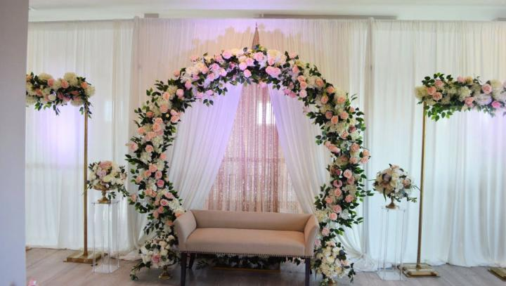 Floral Arch Stage Decor