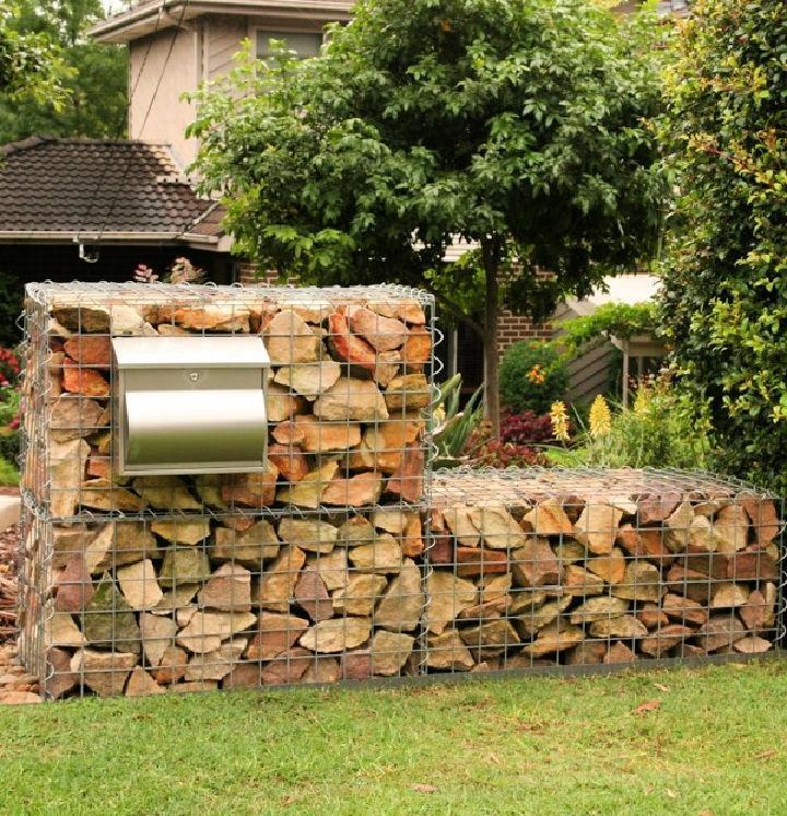 Free Standing Gravity Gabion Retaining Wall