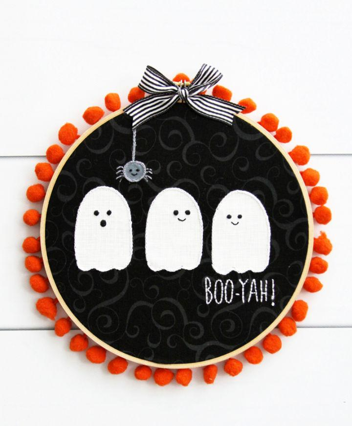 Ghost Wreath for Halloween