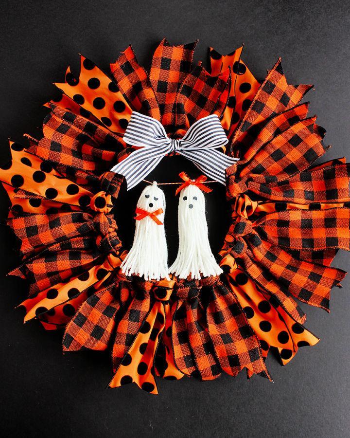 Halloween Ribbon Wreath