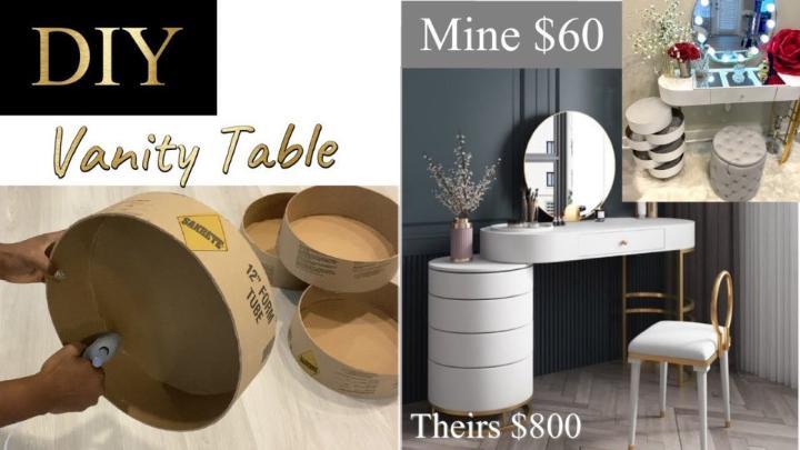 Hollywood DIY Vanity Table