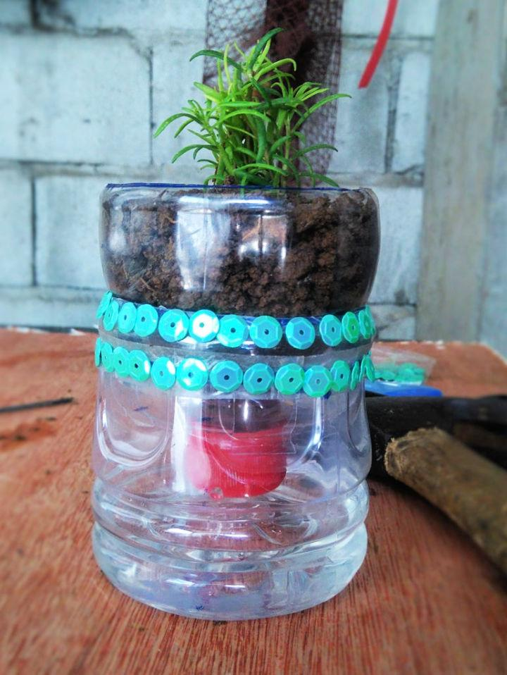 Homemade Self Watering Planters with Plastic Bottles