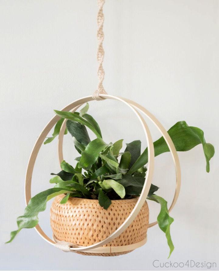 Hoop Macrame Hanging Basket Planter