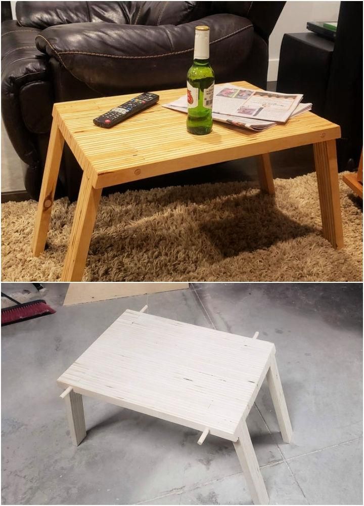 How To Make A Folding Side Table