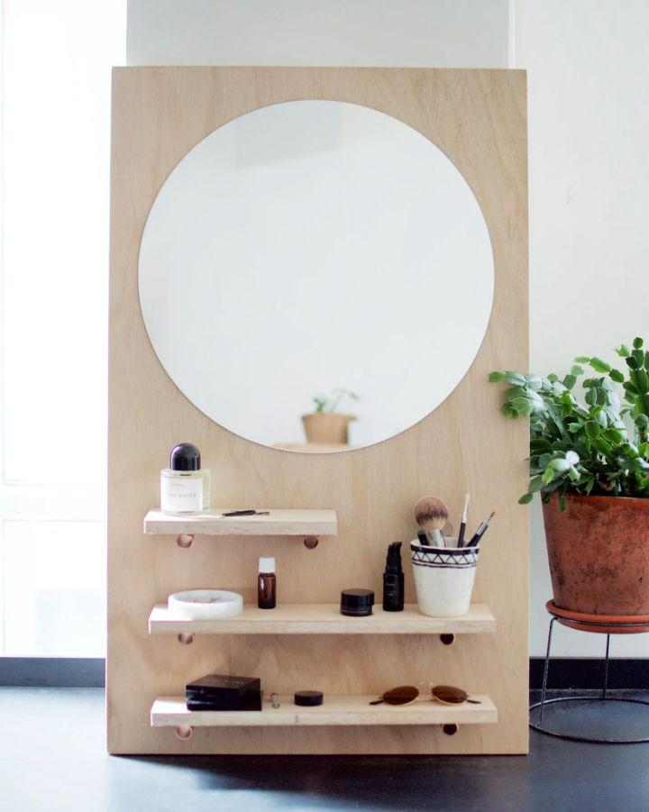 How To Make A Pine Make Up Vanity