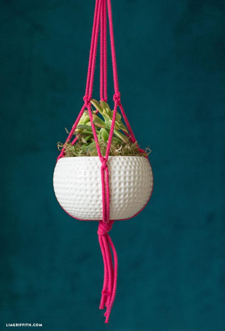 Make a Macrame Plant Hanger Instruction