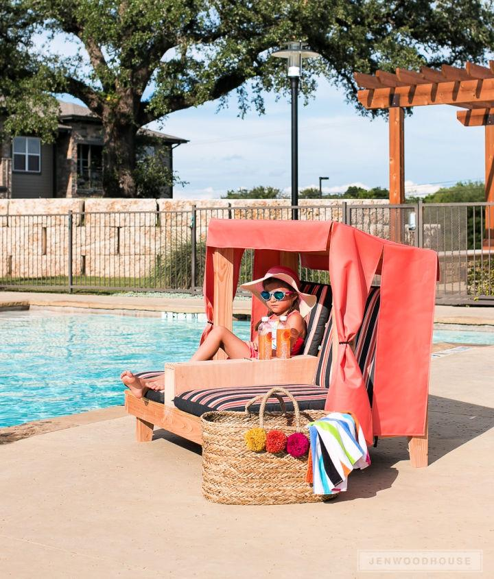Kids Outdoor Double Lounge Chair