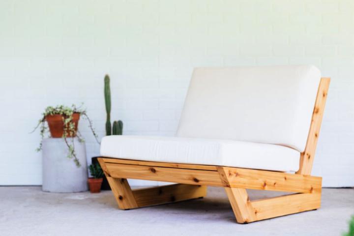 Lounge Chair Made of Cedar