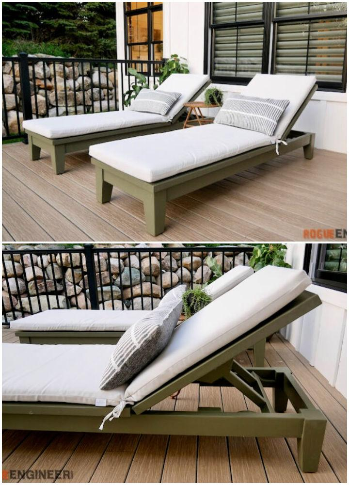 Luxury Chaise Lounger Chair Plan