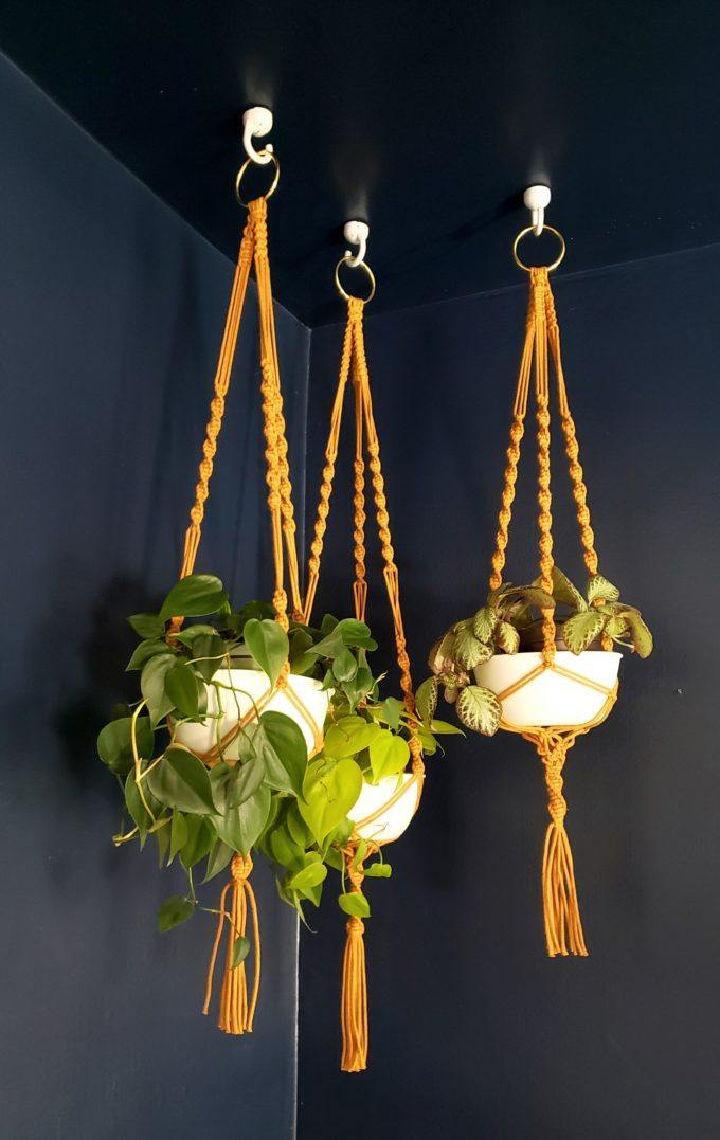 Macrame Hanging Planter Tutorial