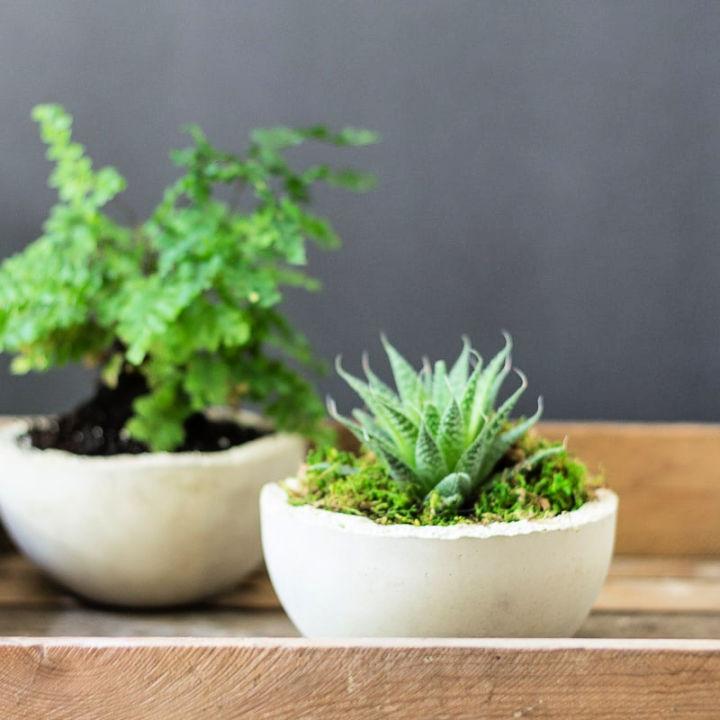 Makers Mix Concrete Mini Planters
