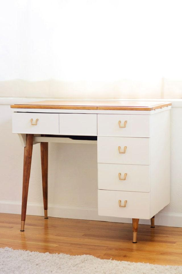 Makeup Vanity from a Vintage Sewing Table