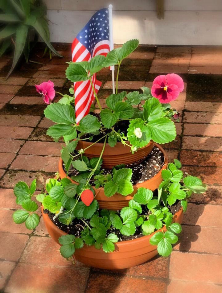 Memorial Day Strawberry Planter