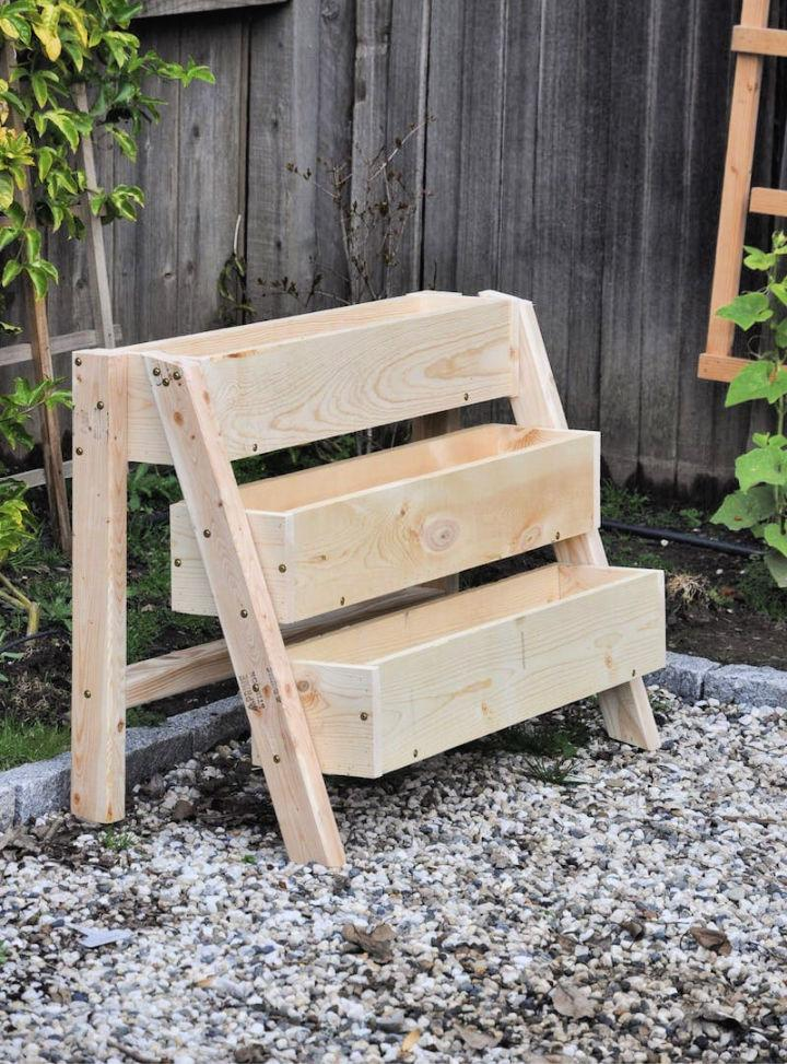 Raised Strawberry Bed with 3 Tiers Box Planters