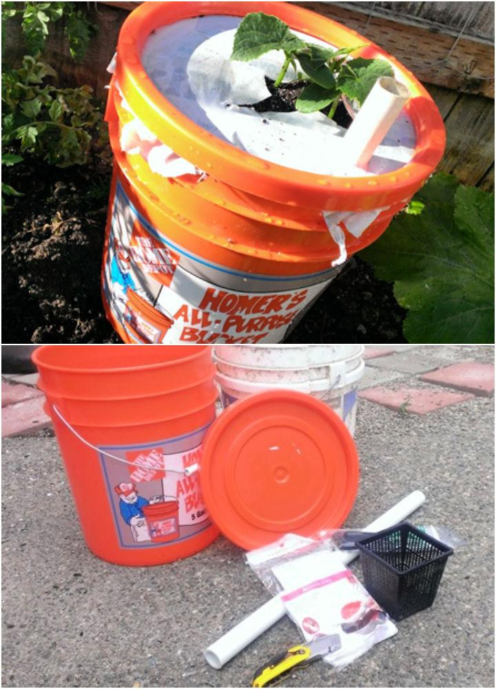 Self Watering Planter with a 5 Gallon Bucket