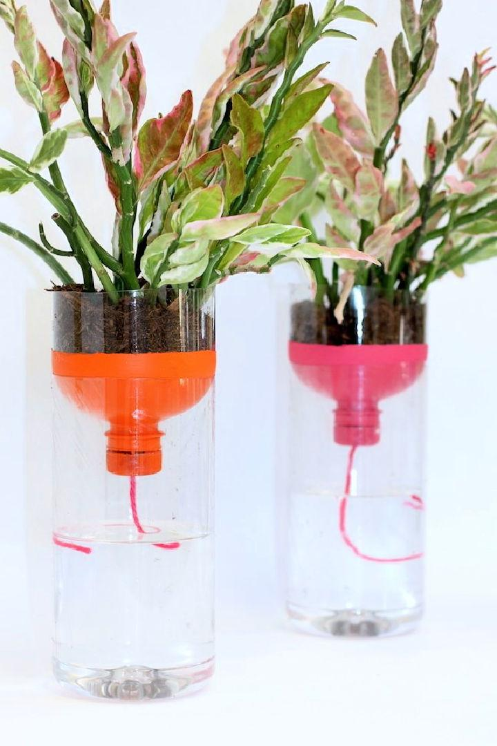 Self Watering Planters with Recycled Bottles