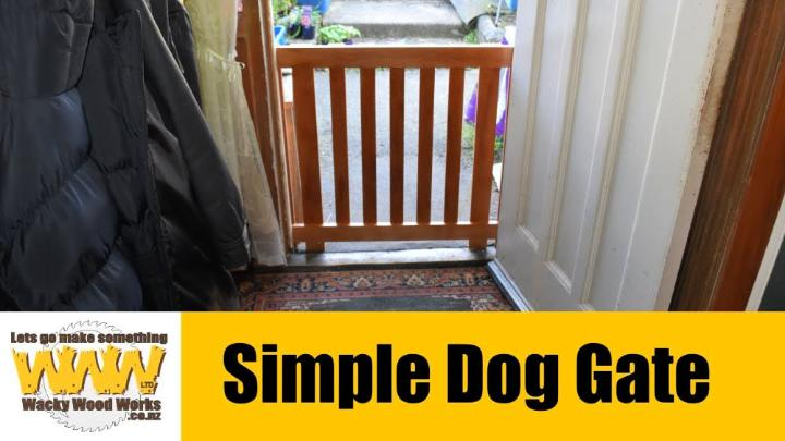 Simple Dog Gate for Front Door