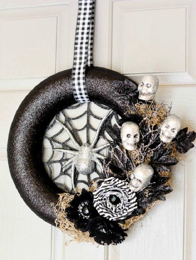 Spider Web Halloween Wreath