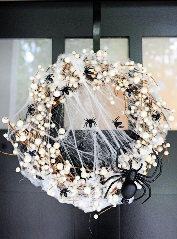 Spider Wreath For Halloween