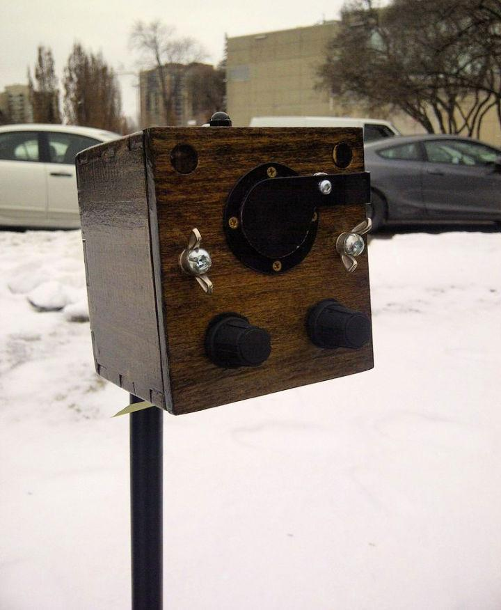 Wooden Anamorphic Pinhole Camera