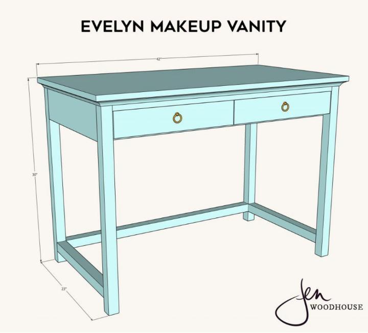 Wooden Makeup Vanity Plan