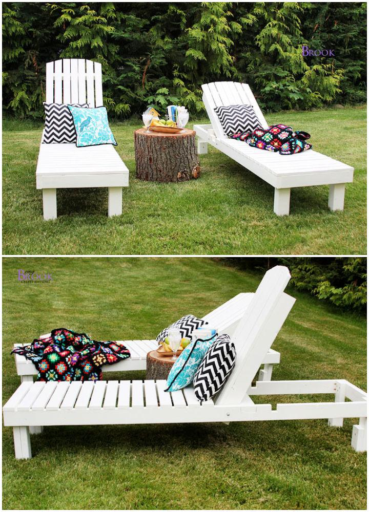 Wooden Outdoor Chaise Lounge