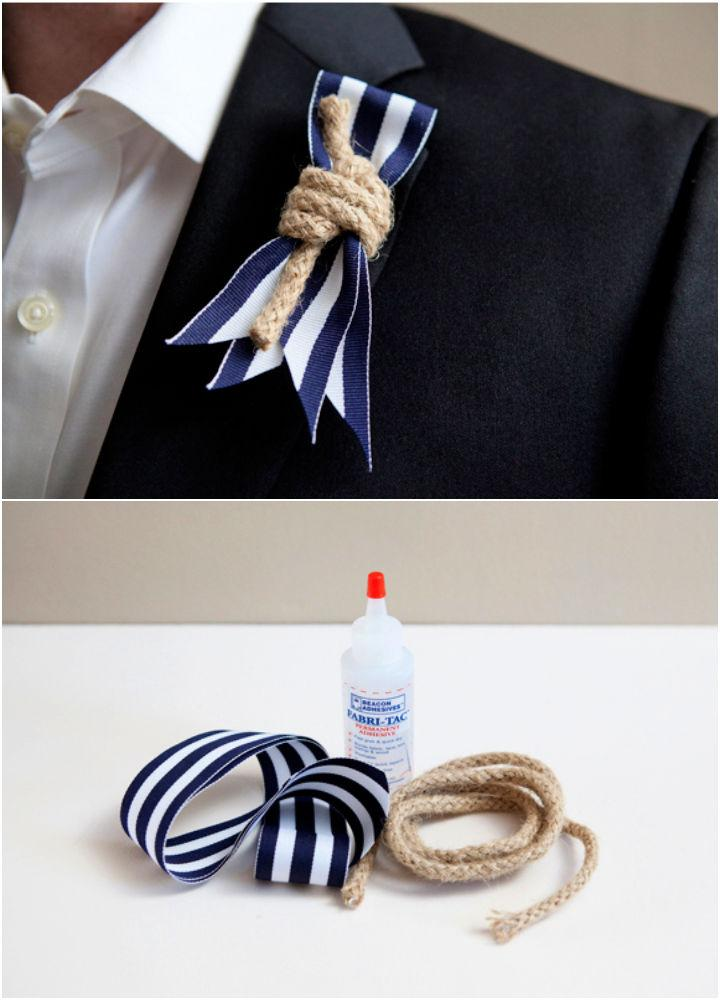 DIY Nautical Rope Boutonniere