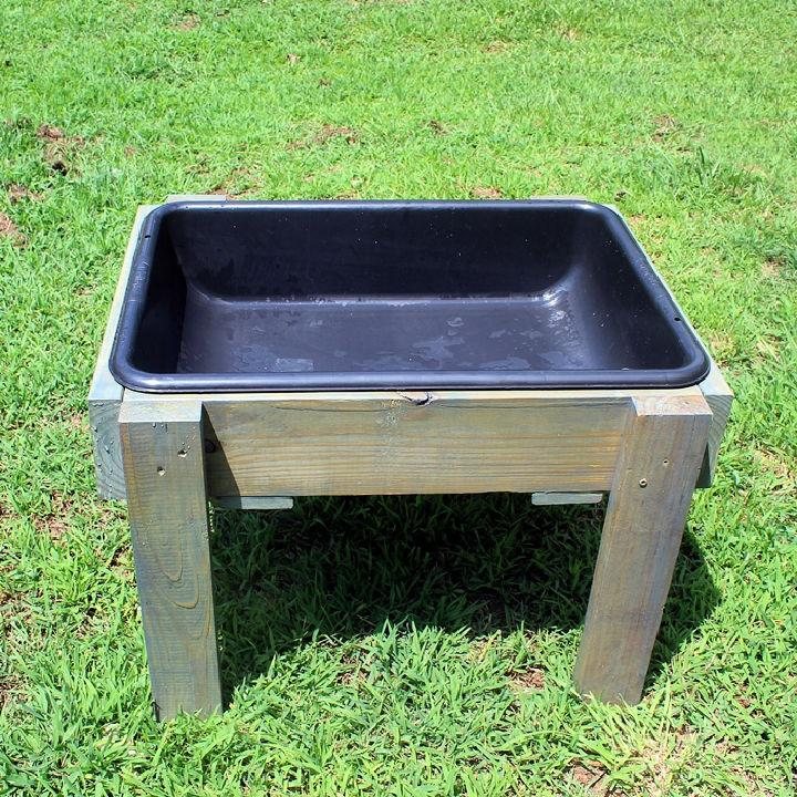 Toddler Water Table from Recycled Wood