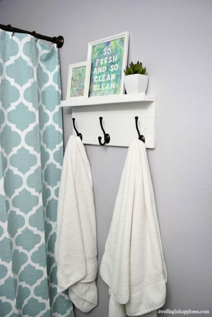 Towel Rack with a Shelf