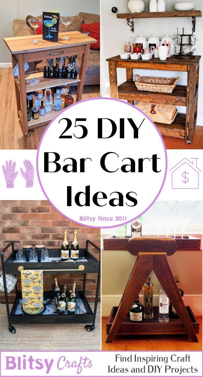 25 DIY Bar Cart Ideas