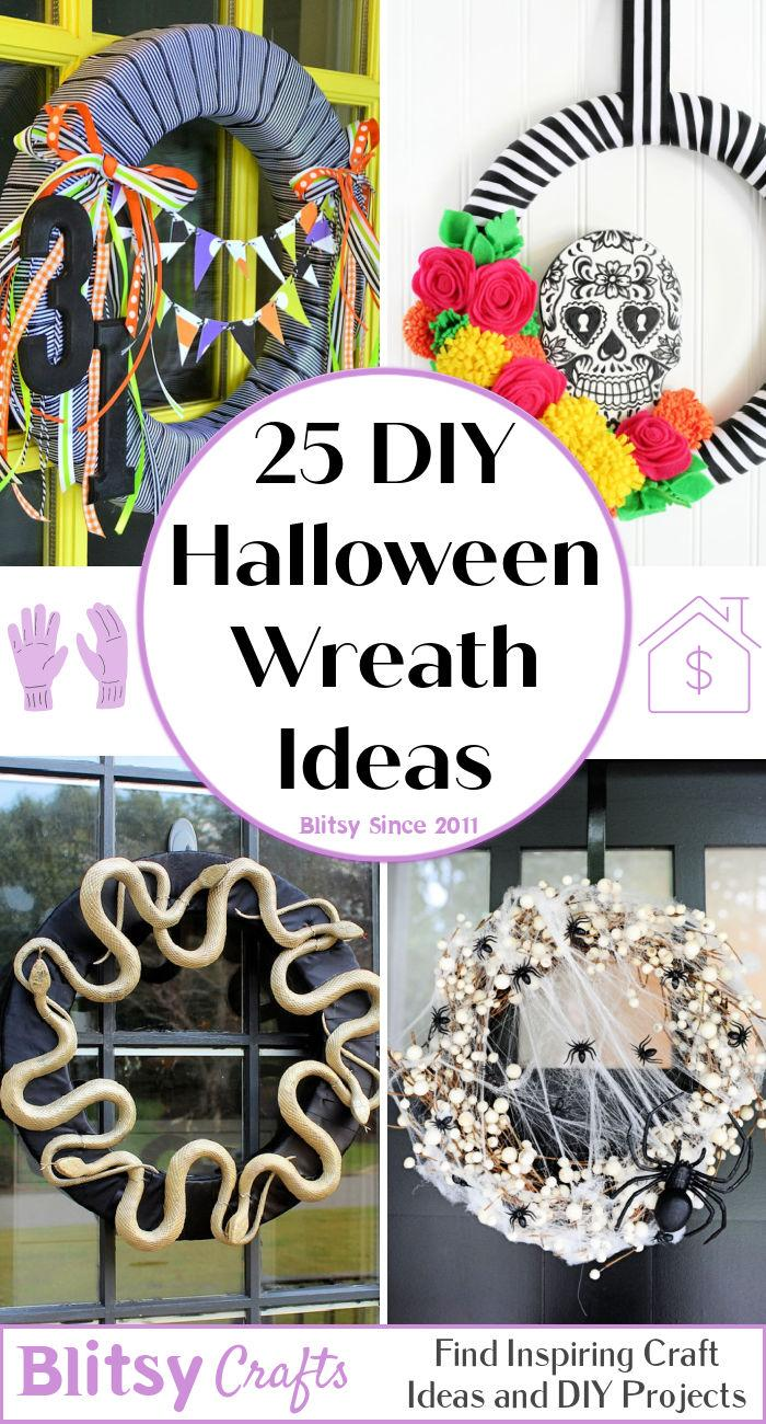 25 Best DIY Halloween Wreath Ideas To Welcome Scarily