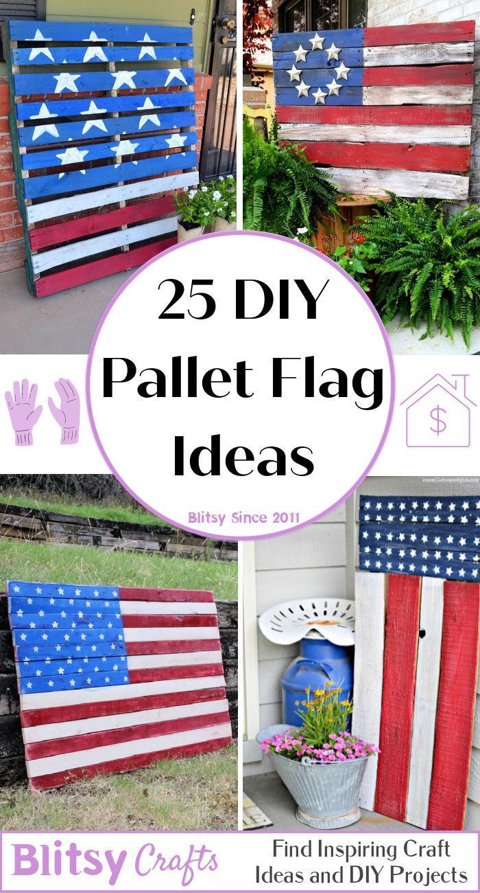 25 diy wood pallet flag ideas - pallet american flag
