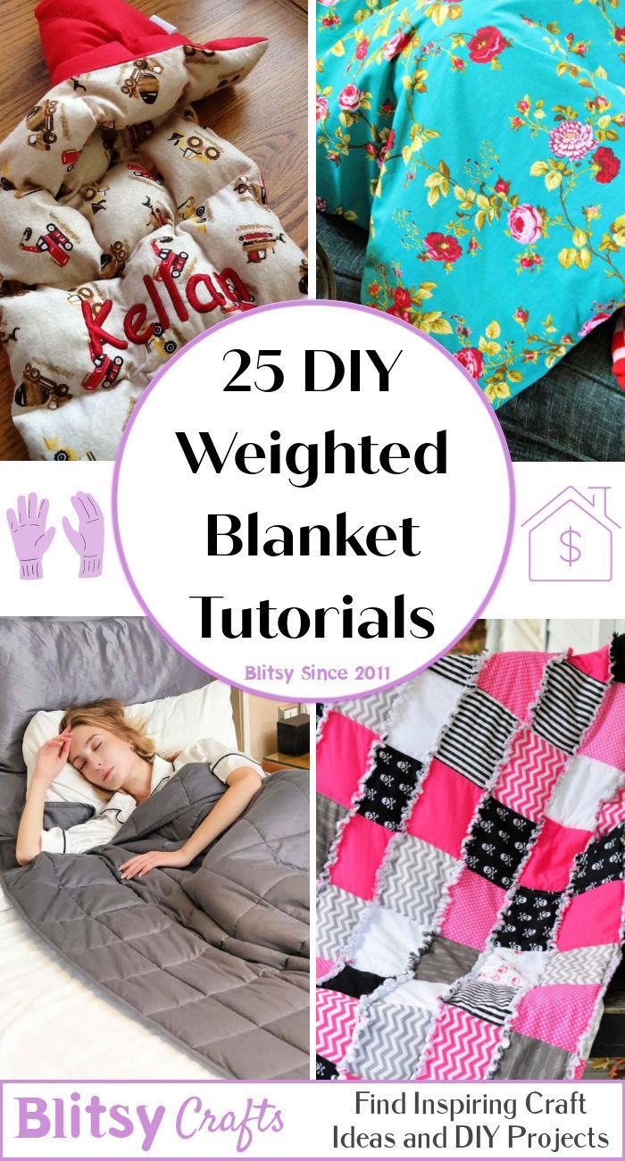 25 DIY Weighted Blanket Tutorials
