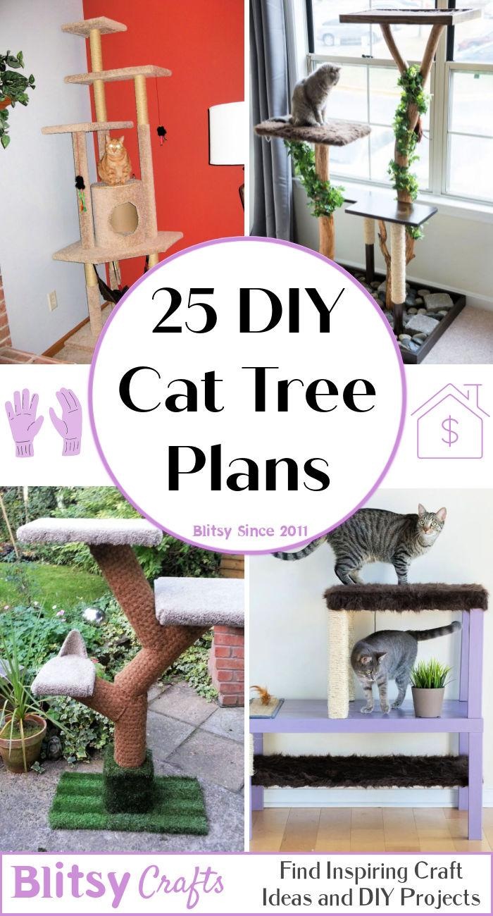 25 Free DIY Cat Tree Plans
