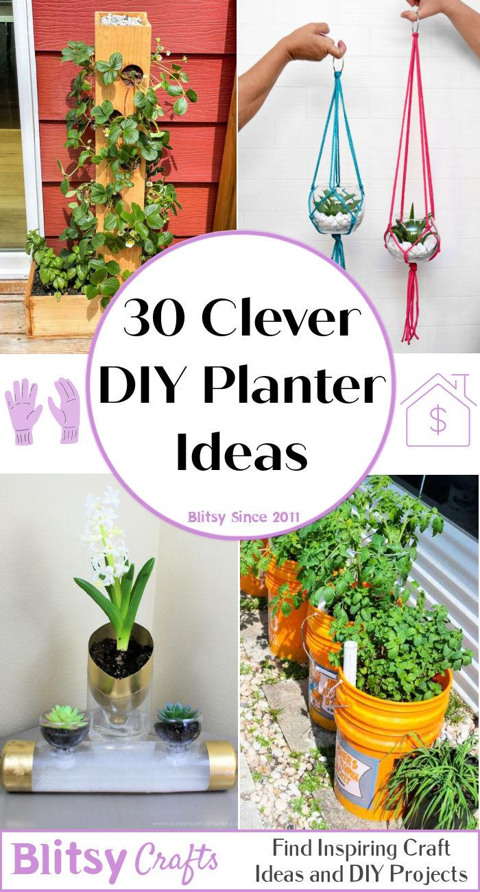 30 Beautiful DIY Planters You Can Make From Scratch