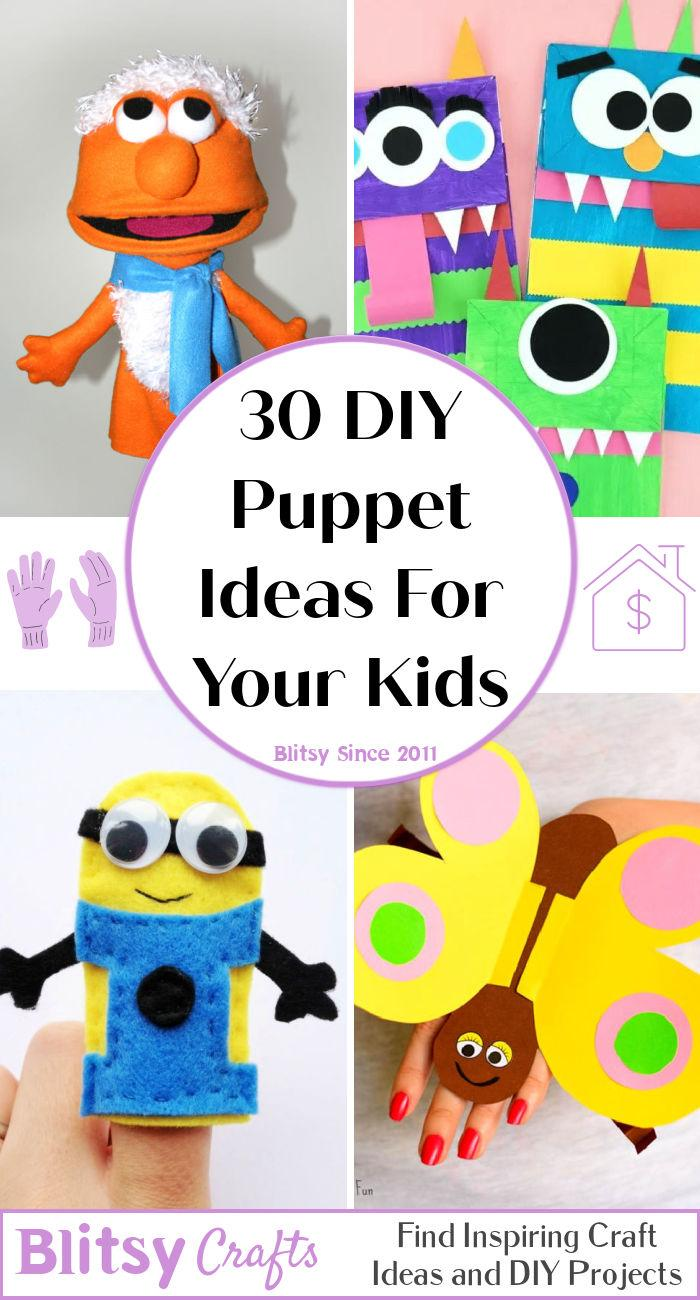 30 DIY Puppet Ideas To Make a Puppet For Your Kids