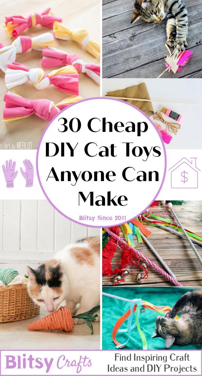 30 Inexpensive DIY Cat Toys