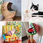 30 Unique DIY Cat Bed Ideas